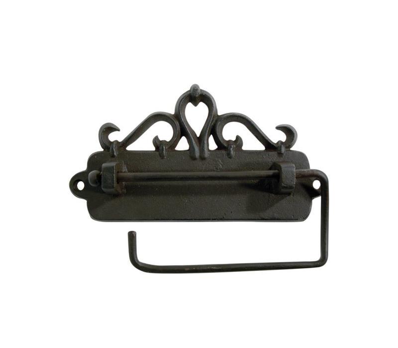 Au Bain de Marie toiletrolhouder hangend 17x3xH9 cm, ijzer, zwart