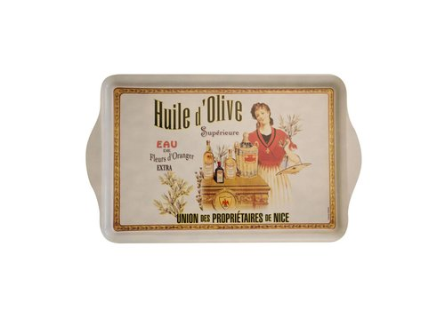 "French Classics French Classics Serving Tray Metal 20x33 cm ""Huile d'olive"""
