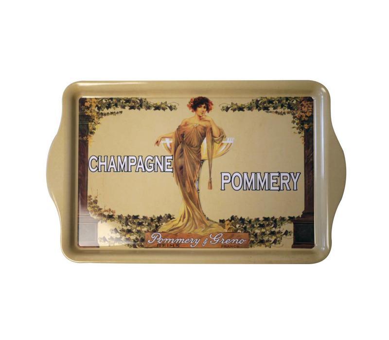 Serviertablett Champagne Pommery 20X33cm Metall