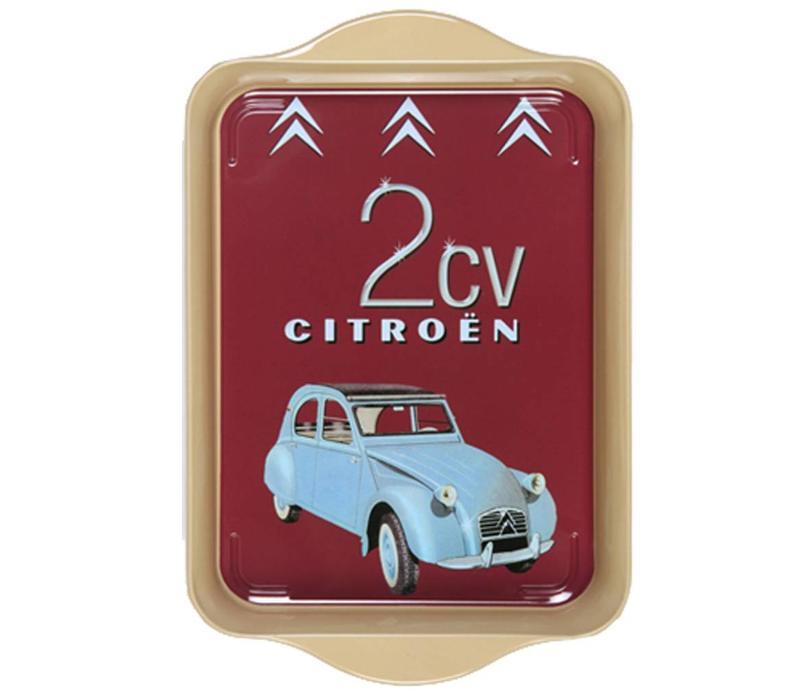 Miniserviertablett 21x14 cm Citroën Metall