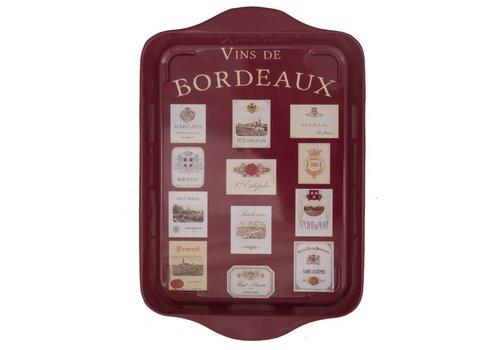 French Classics Small Tray Metal 21x14 cm Vins de Burgundy