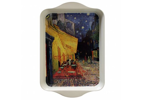 "French Classics French Classics Small Serving Tray Metal 21x14 cm ""Van Gogh"" Terrass"