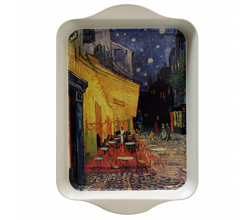Miniserviertablett 21x14 cm Van Gogh Terrasse Metall