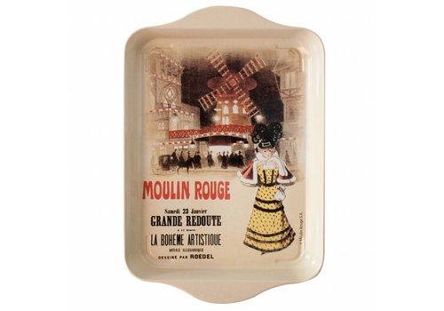 "French Classics French Classics Small Serving Tray Metal 14x21 cm ""Moulin Rouge"""