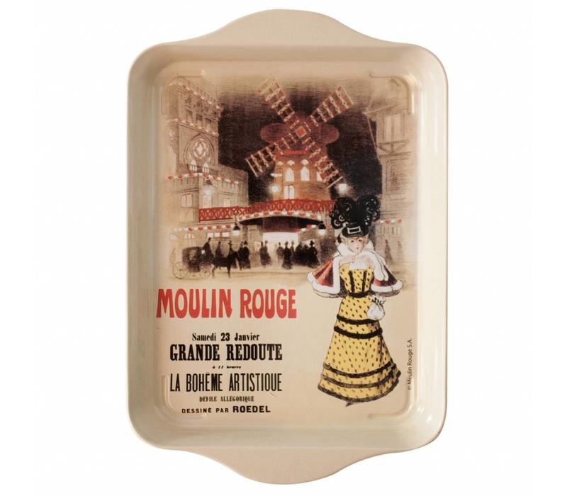 "French Classics Small Serving Tray Metal 14x21 cm ""Moulin Rouge"""