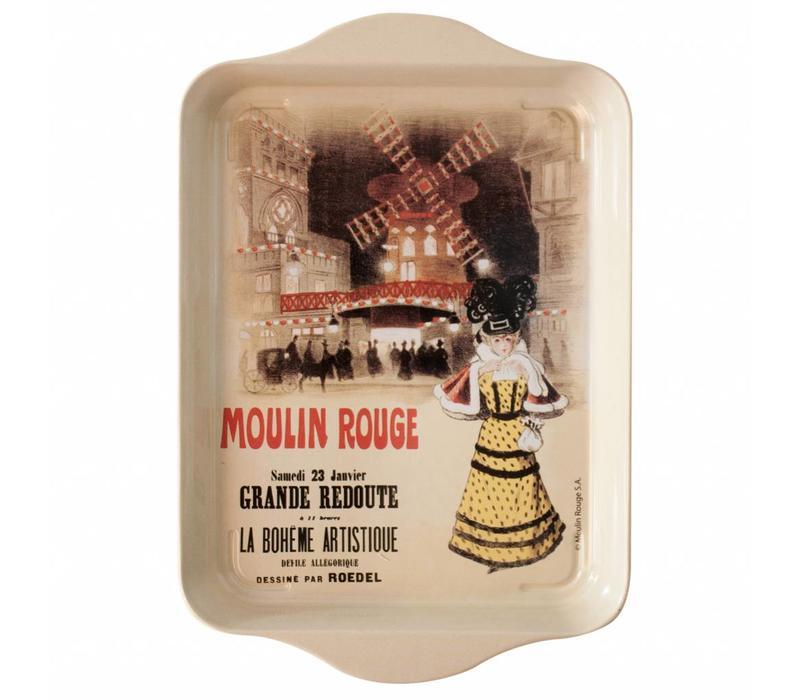 Mini Dienblad Moulin Rouge 14x21 cm Metaal