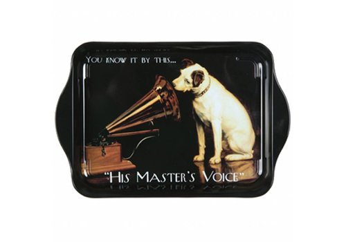 French Classics Miniserviertablett 21x14 cm Master's Voice Metall