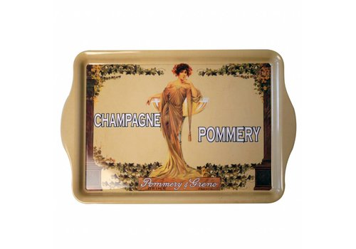 French Classics Mini Dienblad Champagne Pommery 14x12 cm Metaal, Beige