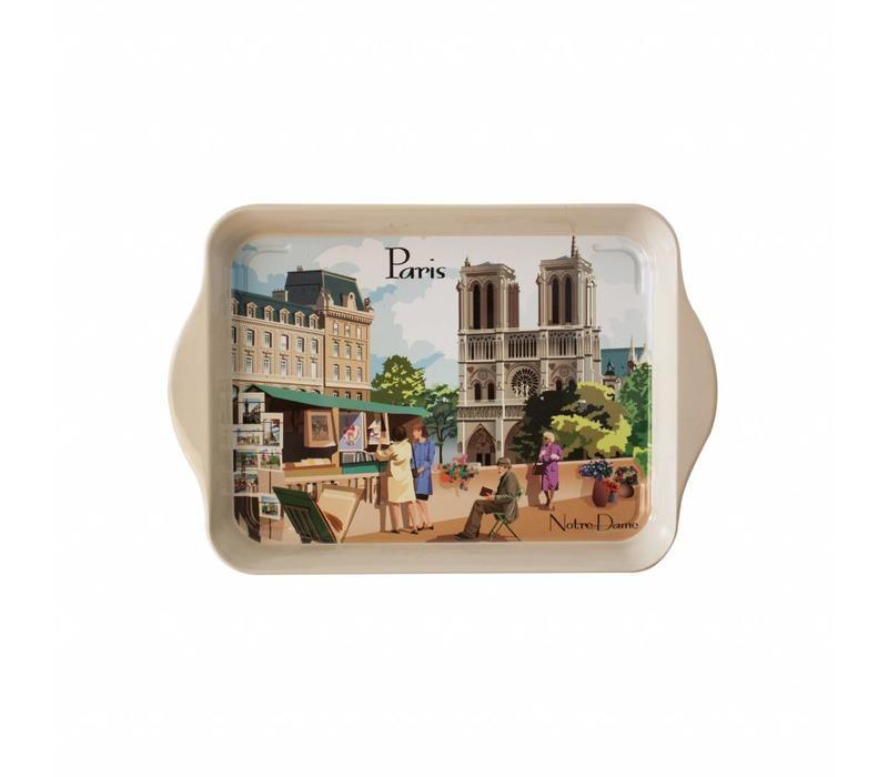 Mini Dienblad Paris 14x21 cm Metaal
