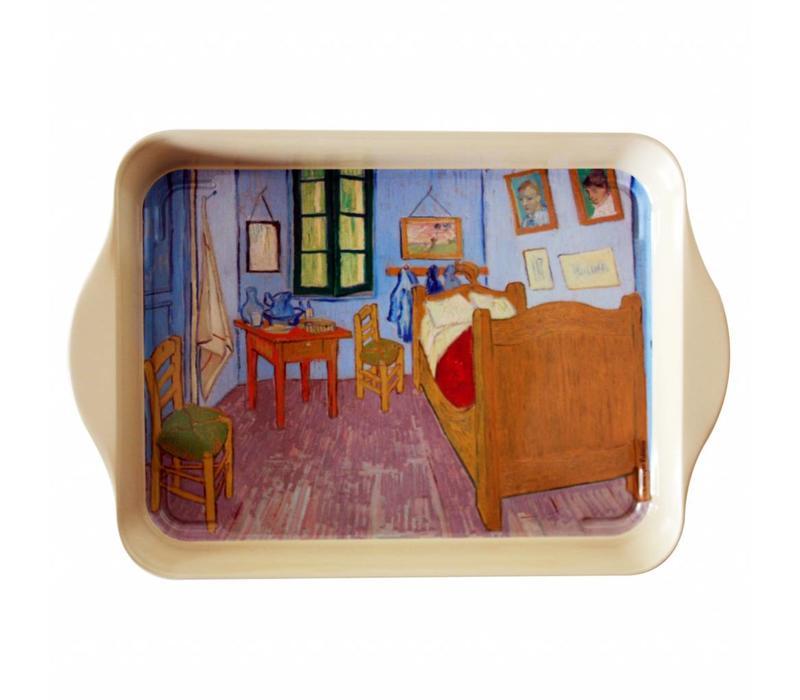 Miniserviertablett 21x14 cm Van Gogh Schlafzimmer Metall
