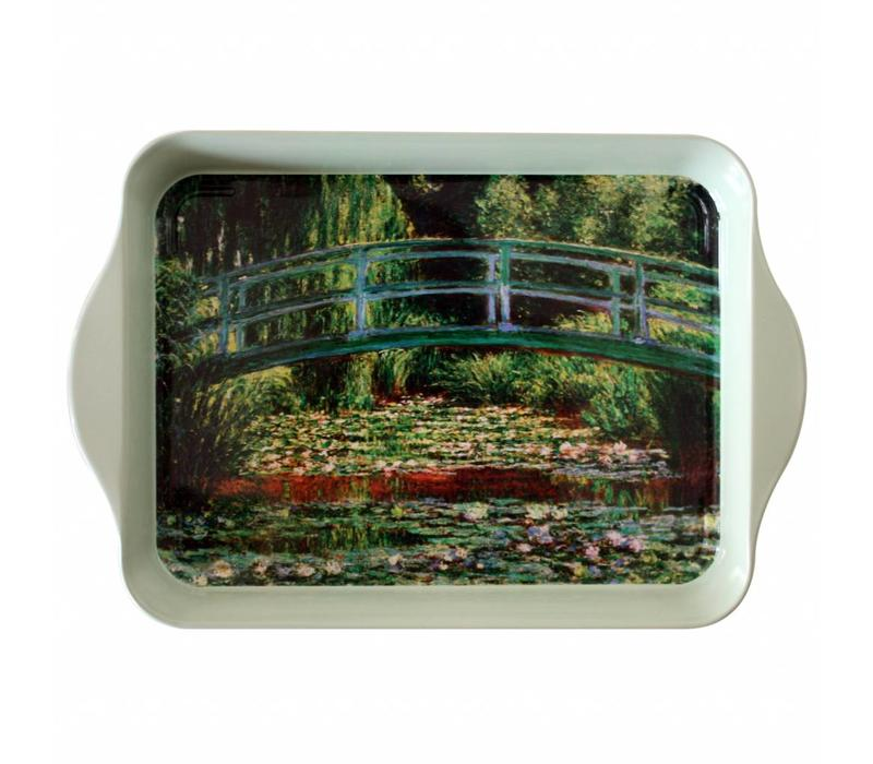 "French Classics Small Serving Tray Metal 21x14 cm ""Monet"" bridge"