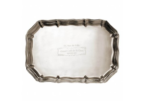 Grand Cafe de la Gare Grand Café de la Gare Large Tray 35x24 cm, matt silver finish