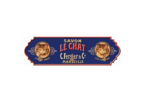 French Classics Rekje Met 3 Haken Savon Le Chat 22xH6,5 cm Metaal