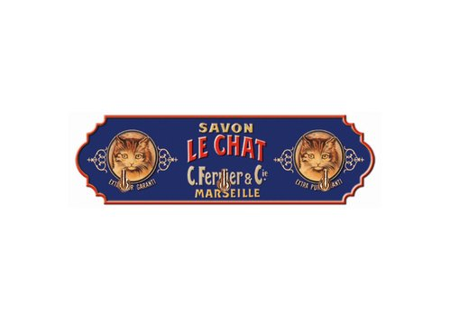 French Classics Towel Hanger Metal 3 Hooks 22x6,5 cm Savon Le Chat