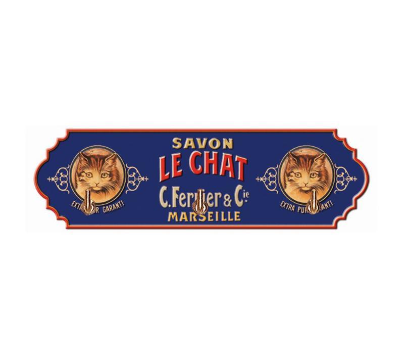 Rekje Met 3 Haken Savon Le Chat 22xH6,5 cm Metaal