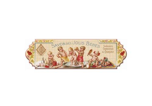 French Classics Leiste Für 3 Geschirrtücher Jlis Bébés 22xH6,5 cm