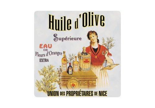 French Classics Onderzetter Huile d'olive 20x20 cm Hittebestendig Glas