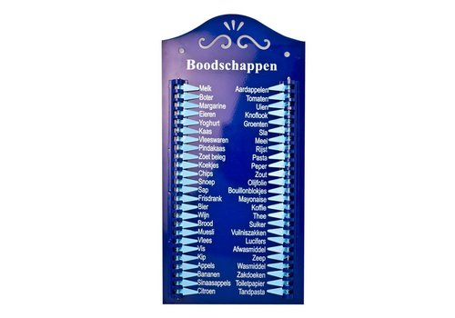 Kom Amsterdam Boodschappenlijst Nederlands Metaal, Blauw