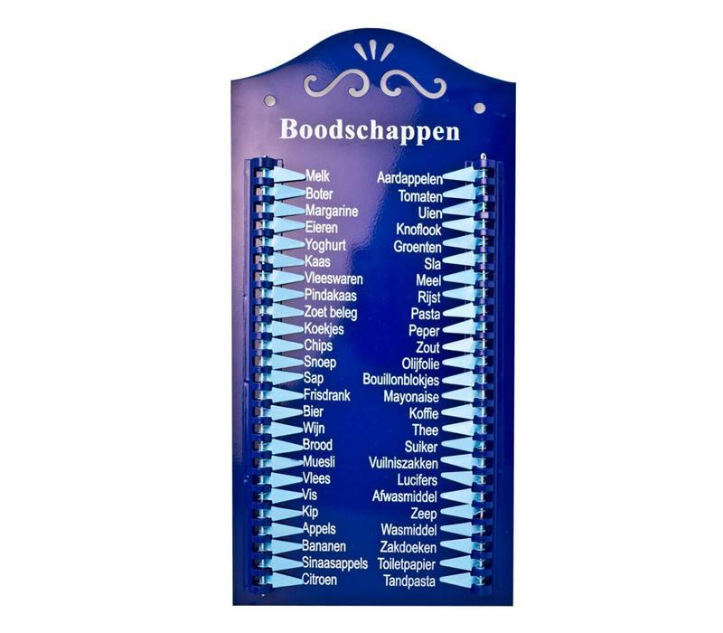 Einkaufsliste Blau Métall Holländisch