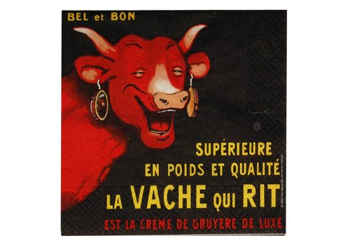 French Classics Päckchen mit 20 Servietten Vache Qui Rit