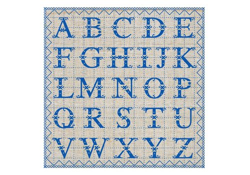 French Classics ABC Blauw Pakje 20 Servetten
