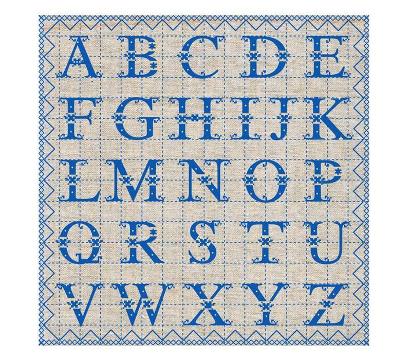 Päckchen mit 20 Servietten ABC Blau
