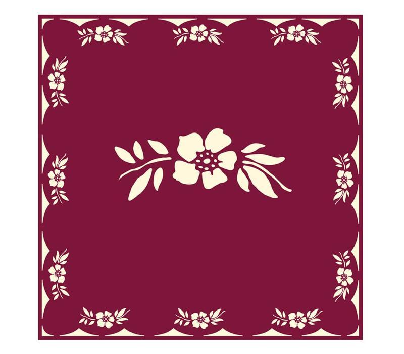 Päckchen mit 20 Servietten Blume Rot