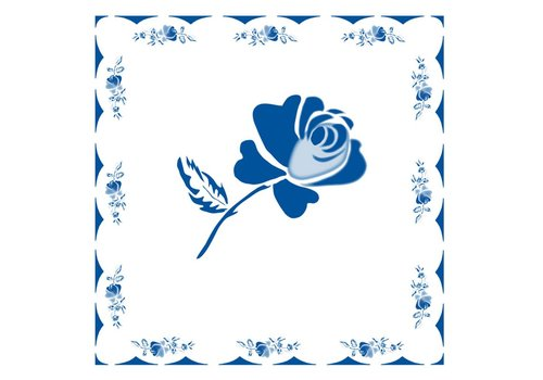 French Classics Rose Blue Package 20 Napkins