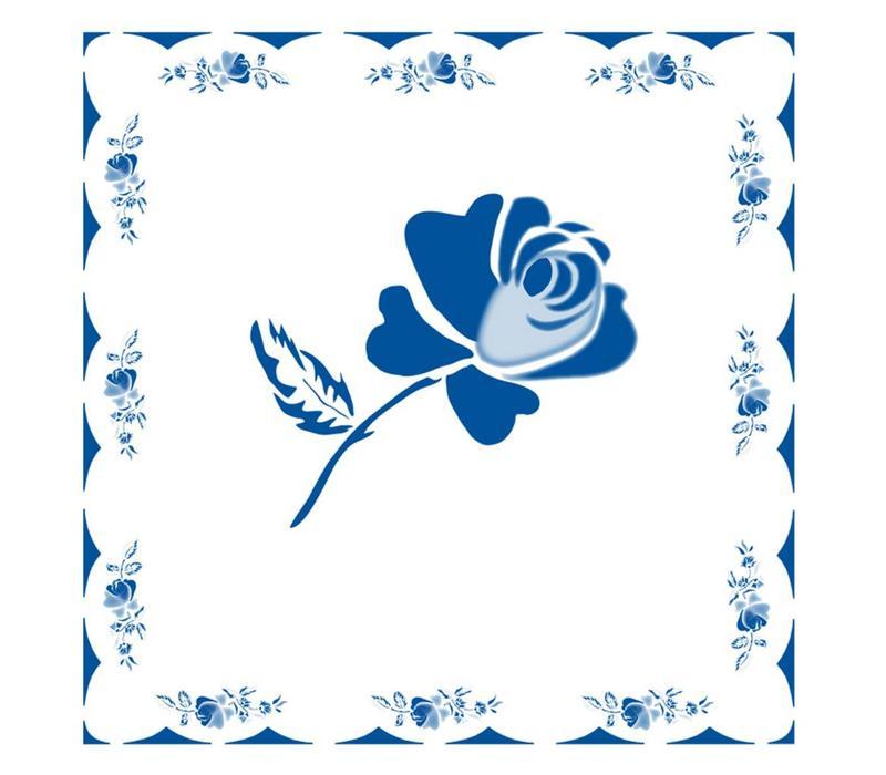 Päckchen mit 20 Servietten Rose Blau