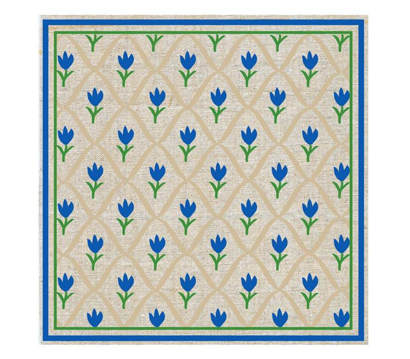 Päckchen mit 20 Servietten Tulpe Blau