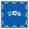 French Classics Päckchen mit 20 Servietten Blume Blau