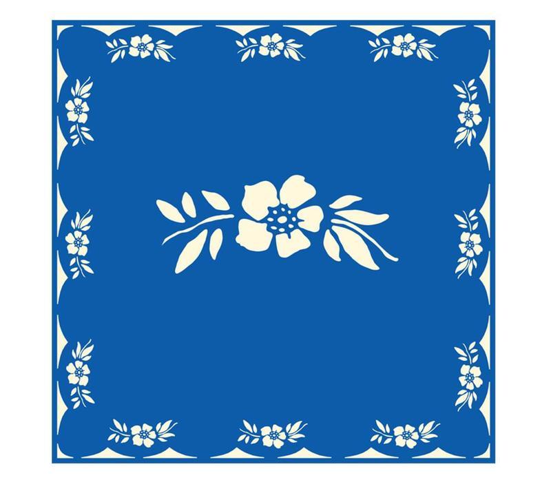 Päckchen mit 20 Servietten Blume Blau