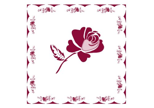 French Classics Rose Red Package 20 Napkins