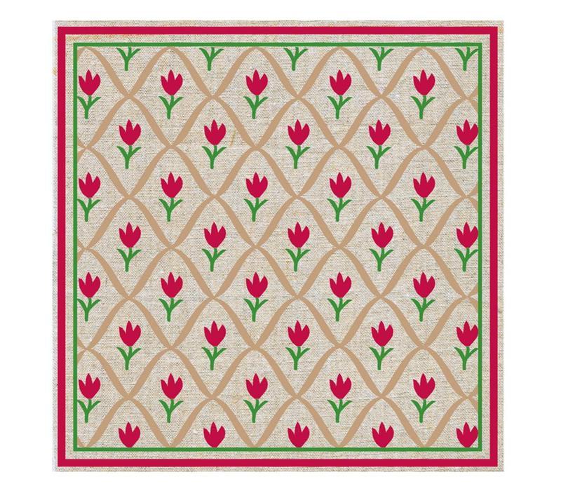 Päckchen mit 20 Servietten Tulpe Rot