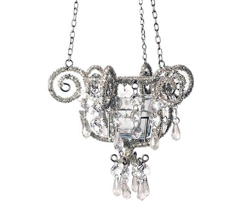 Chandelier Crown Silver 17x16cm
