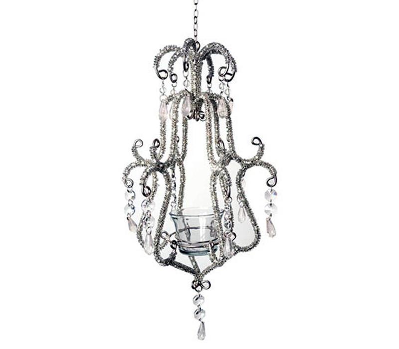 Kroonluchter Baroque Zilverkleurig 35 cm