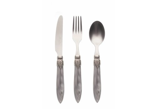 Murano Breakfast Cutlery Set (3-piece) Murano, Light Grey