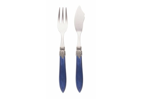 Murano Fish Cutlery Set (2-piece) Murano, Blue