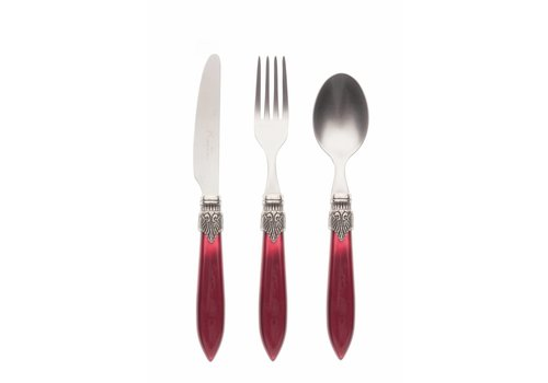 Murano Breakfast Cutlery Set (3-piece) Murano Burgundy