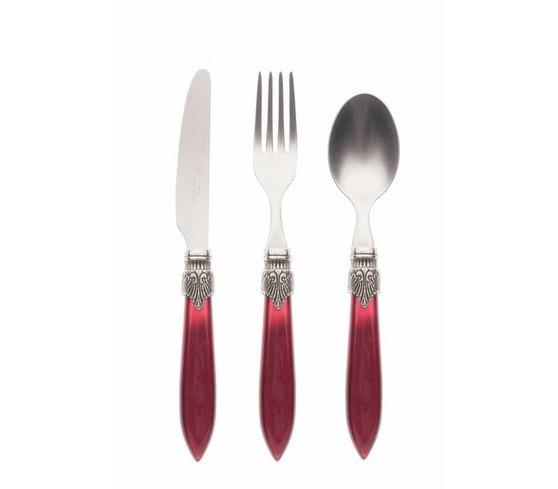 Breakfast Cutlery Set (3-piece) Murano Burgundy