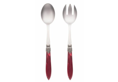 Murano Salad Server Set (2-piece) Murano Burgundy