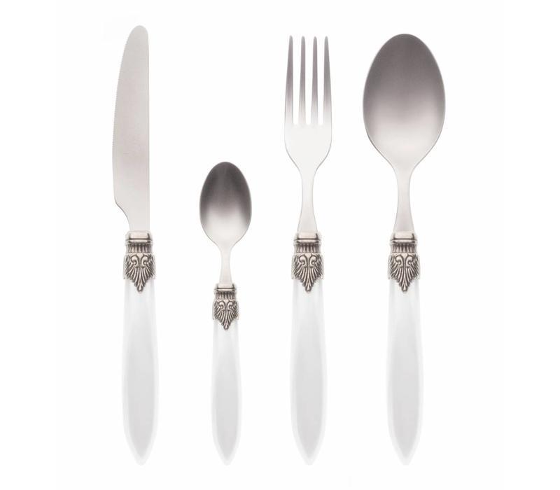 Murano 4 Piece Cutlery Set Ice white