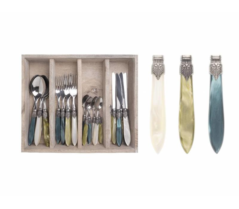 Murano 24 Piece Cutlery Set Forest Mix