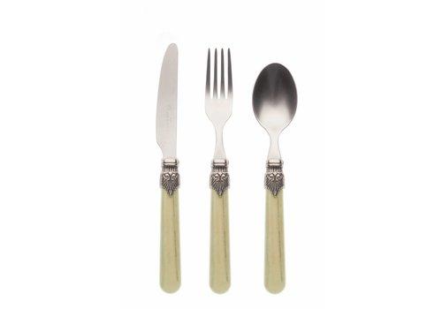 Vintage Breakfast Cutlery Set (3-piece) Vintage Pistache