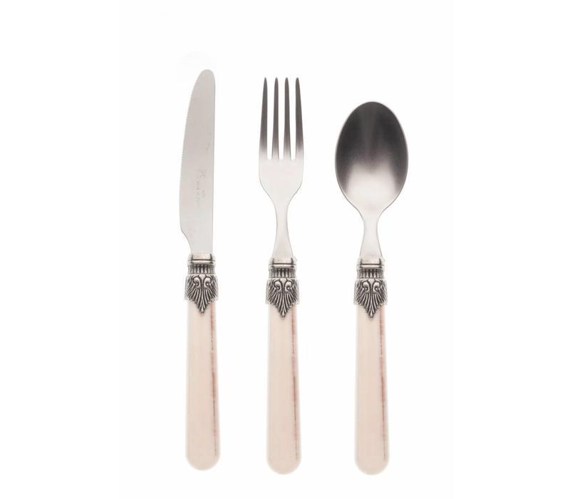 Breakfast Cutlery Set (3-piece) Vintage, Sand