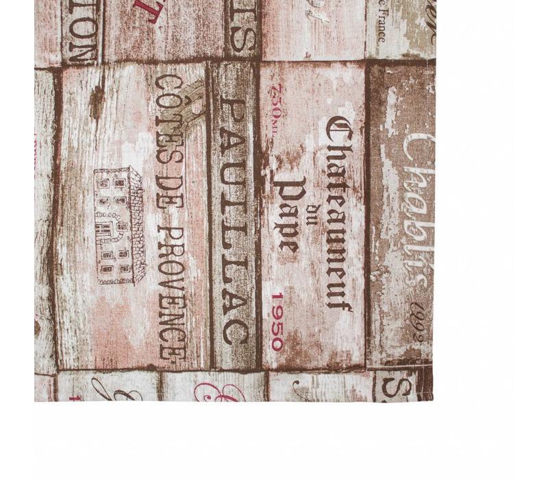 Campagne Tafelkleed 'wijnsoorten'