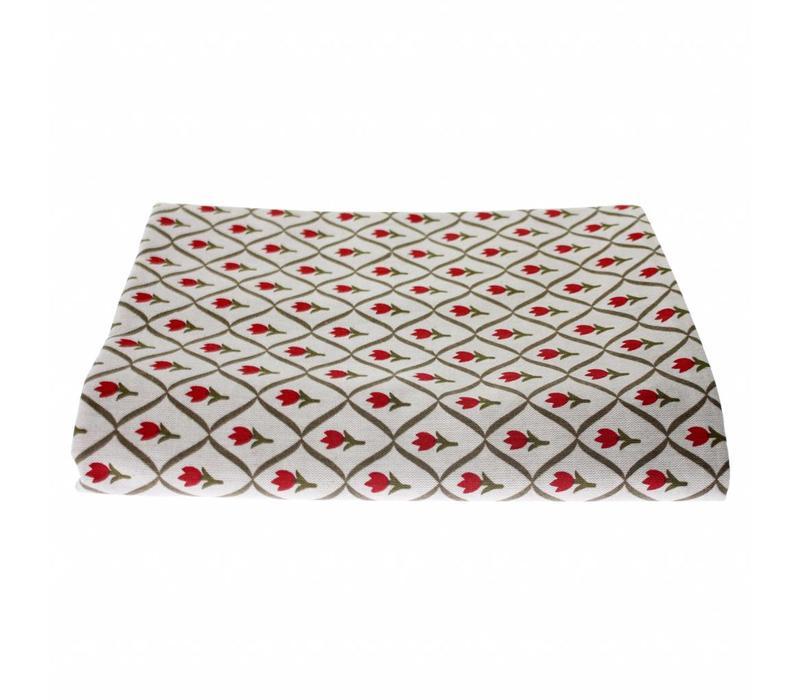 "Kom Amsterdam Table Cloth ""Tulip"" 150x250 cm, Red"