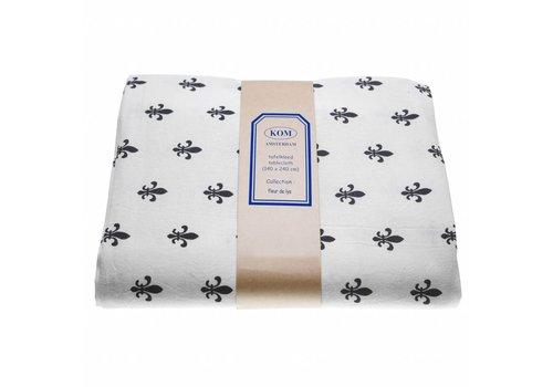 Kom Amsterdam Table Cloth 150x250 cm Fleur de Lys, Grey