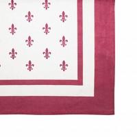 "Kom Amsterdam Tablecloth ""Fleur de Lys"" 150x250 cm, Red"