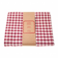 "Kom Amsterdam Tablecloth ""Check"" 150x250 cm, Red"
